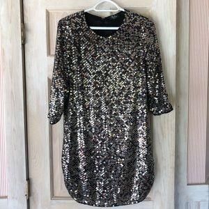 Parker Black Sequin Dress from Revolve